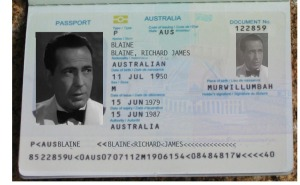 Richard Blaine passport